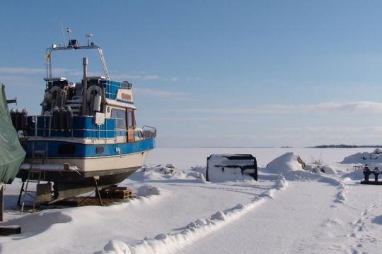 Säsongsvila för båten