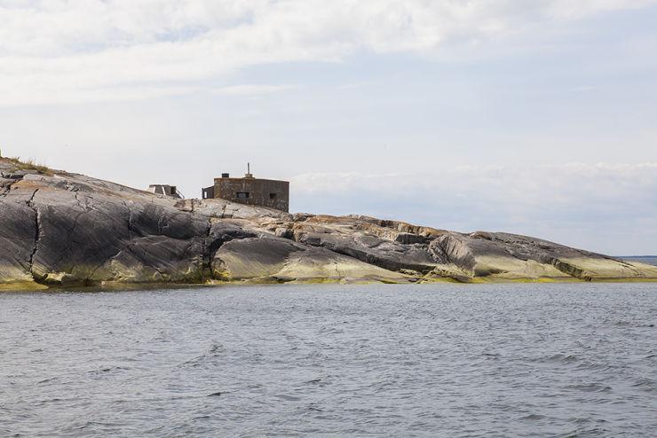 Bunker från andra världskriget är idag bastu.